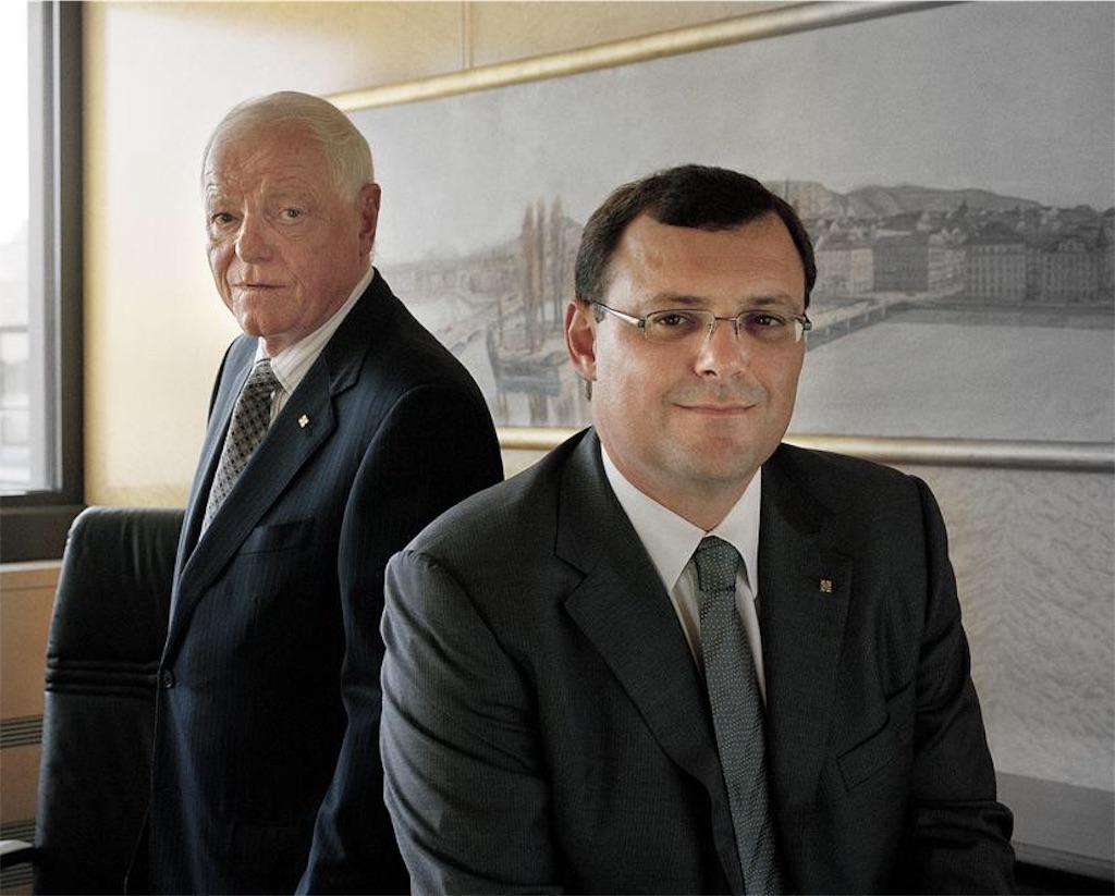パテックフィリップのフィリップ・スターン(名誉会長)とティエリー・スターン(社長)