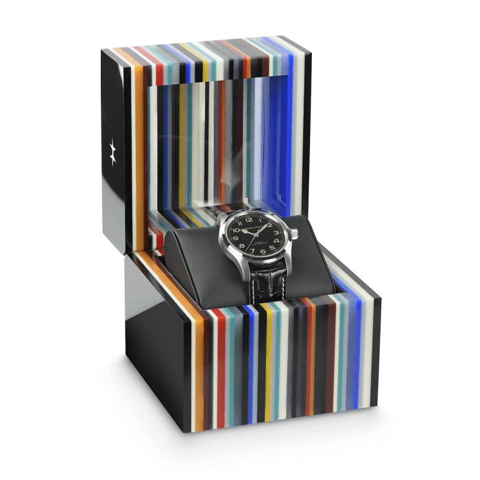 ネイサン・クロウリー氏デザインのハミルトン カーキ フィールド マーフ オートの初回スペシャルボックス