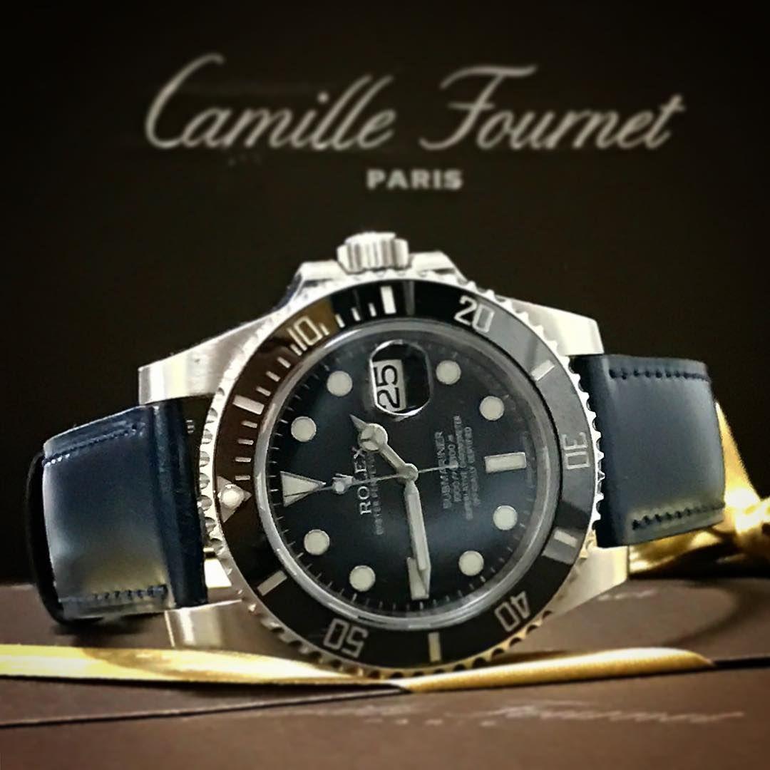 Camille Fournet カミーユ・フォルネ コードバンを付けたロレックス サブマリーナ 116610LN