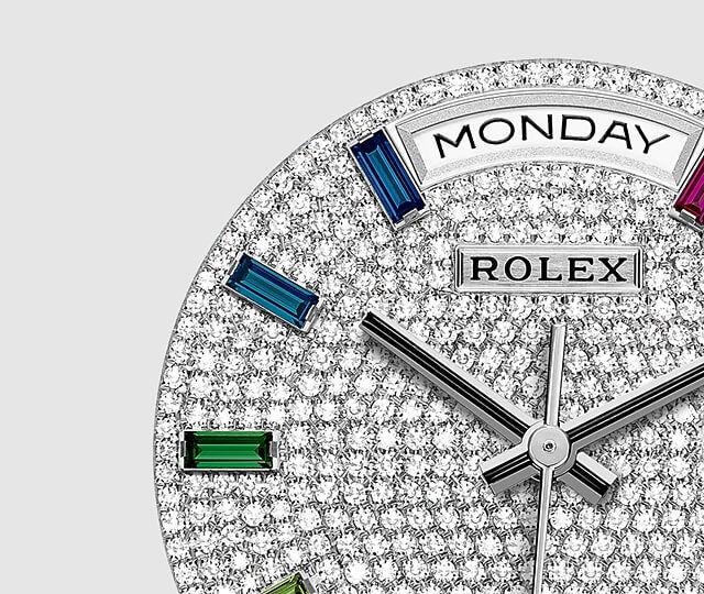 ロレックス デイデイト 36 レインボー Ref.128345RBRの文字盤