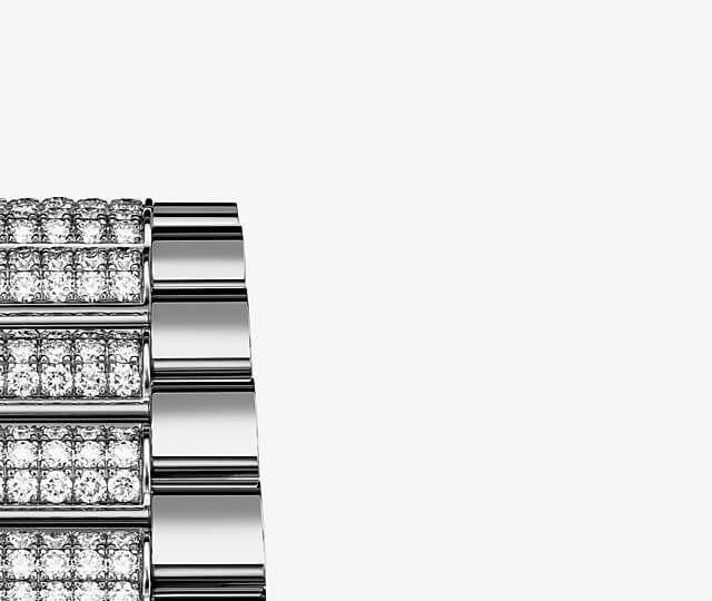ロレックス デイデイト 36 レインボー Ref.128345RBRのプレジデンシャルブレスレット