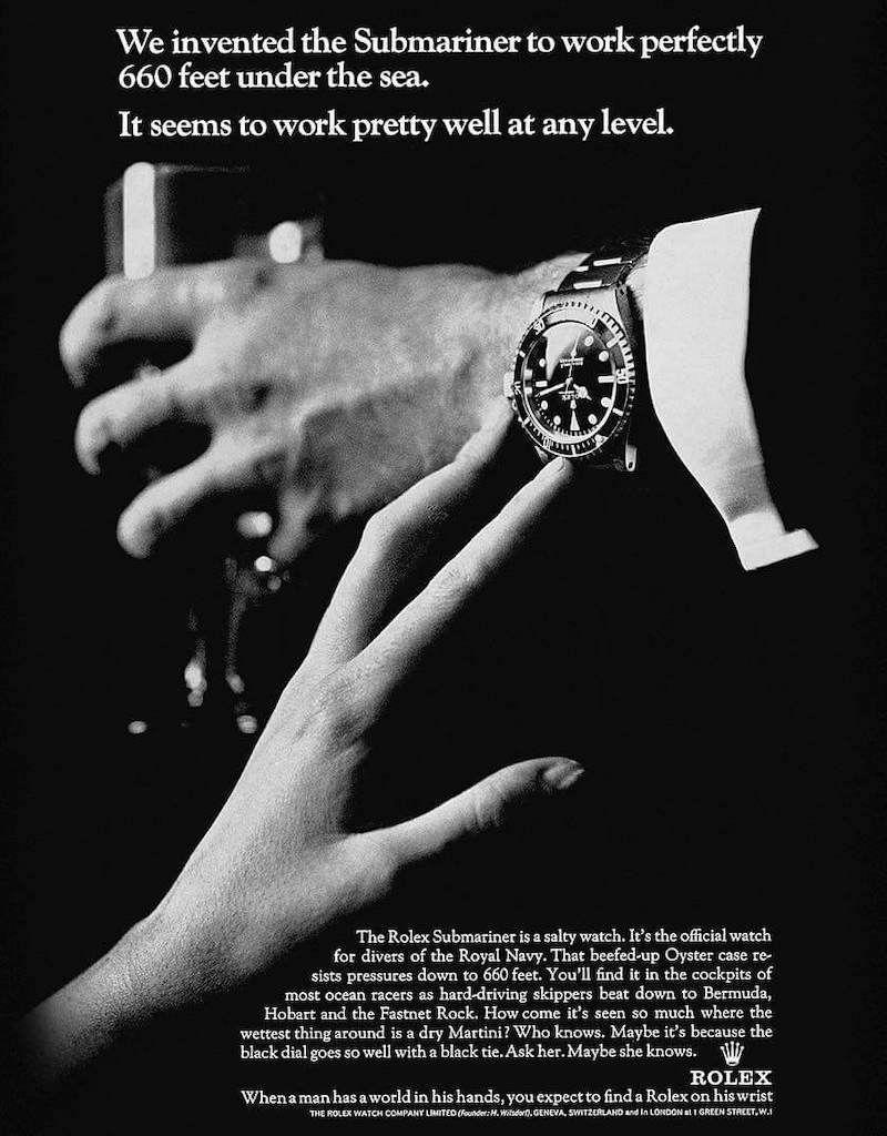 ロレックスサブマリーナの1966年の広告