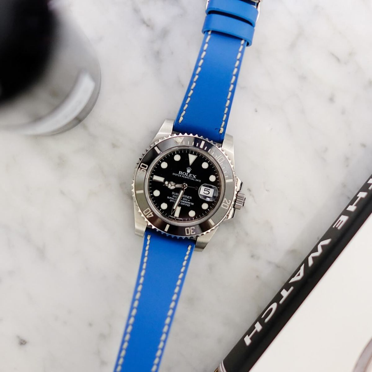 Rolex Submariner with bespoke strap by Jean Rousseau