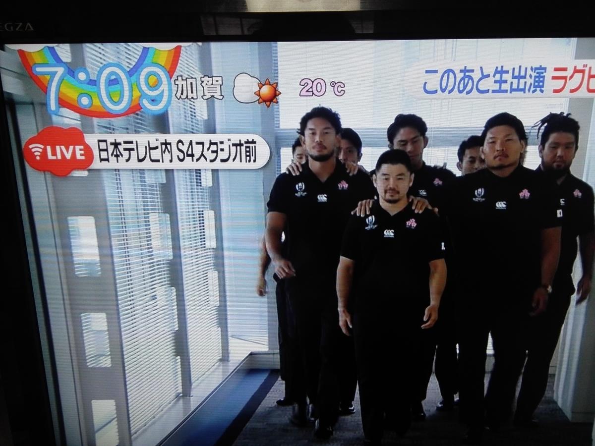 ラグビー 日本 代表 テレビ 出演 予定
