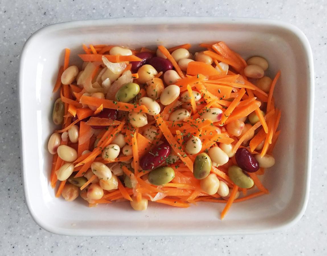 人参と豆のサラダ