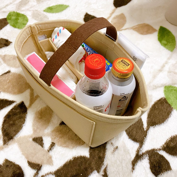 10秒でお出かけ鞄チェンジ!持運び収納ケースがとっても便利!