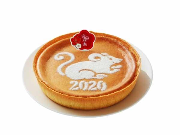 モロゾフを代表するデンマーククリームチーズケーキに子(ねずみ)のモチーフを描きました♪