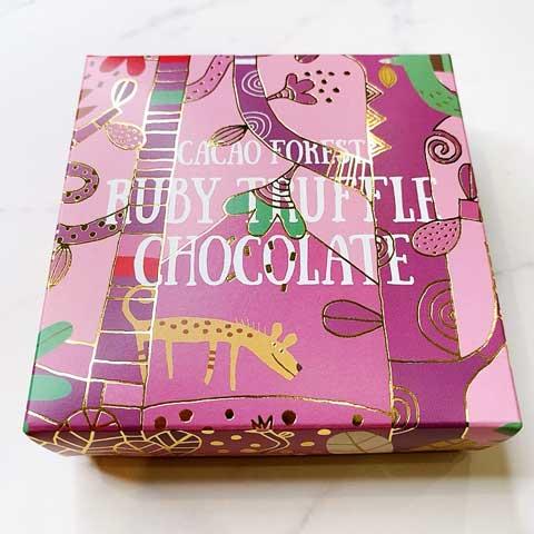 包装もカワイイピンクのルビートリュフショコラ♪