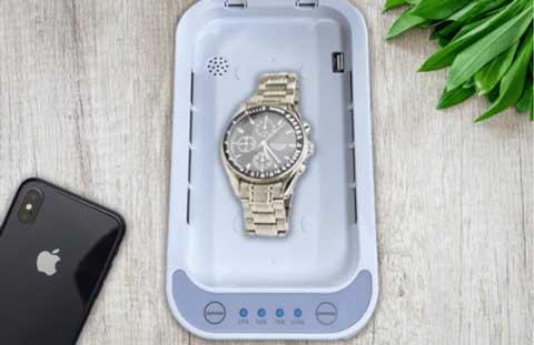 腕時計の除菌もOK
