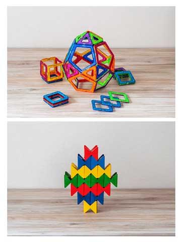 """磁石ブロックや、レゴブロックなど大人も楽しめ""""創造性""""を引き出すおもちゃ"""