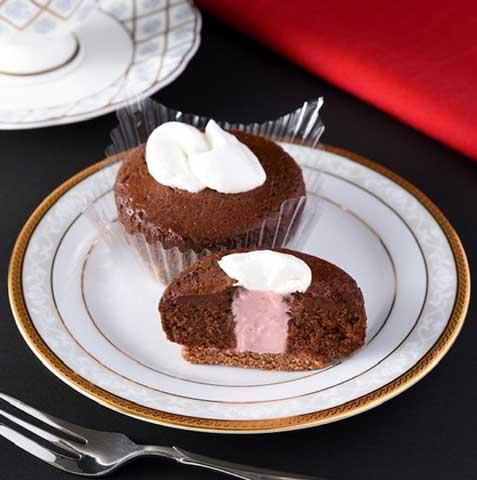 ショコラケーキ ルビーチョコソース