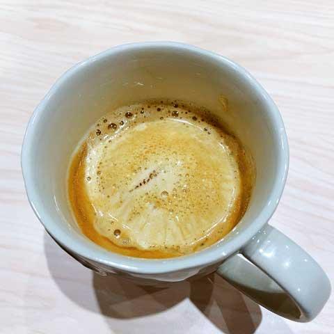 しっかりコーヒーにとけちゃいました