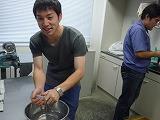 焼き芋の準備