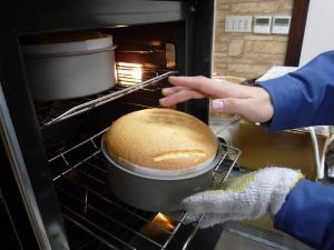 オーブンで焼成