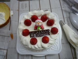 クリスマスケーキの完成!