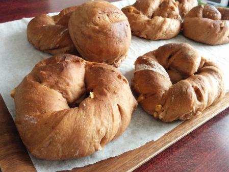 チョコナッツのリングパン