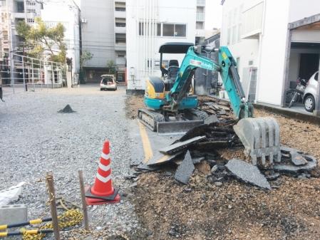 170128工事駐車場
