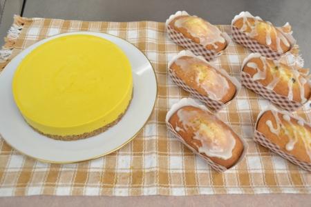 かぼちゃのレアチーズケーキ・フルーツパウンド④