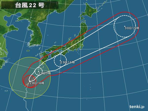 台風22号typhoon_1722_2017-10-28-16-00-00-large