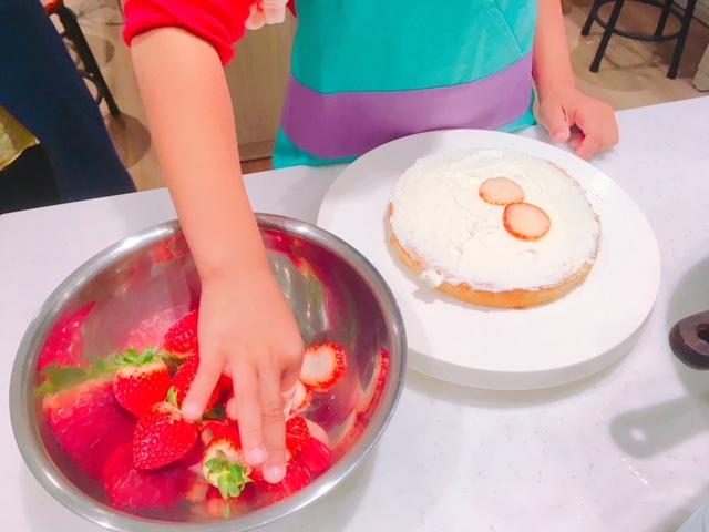 クリスマスケーキ作り