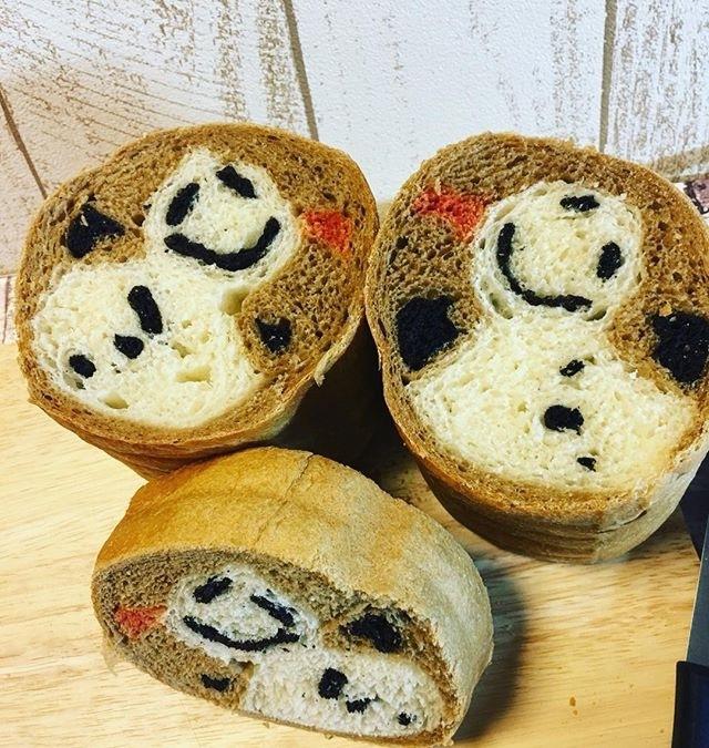 雪だるまデコ食パン