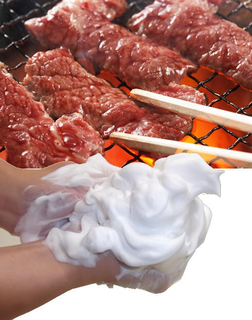 焼肉を食べる前には手洗いをしよう