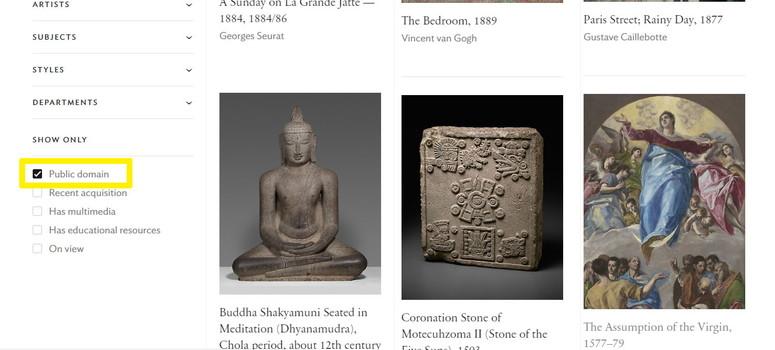 シカゴ美術館_パブリックドメイン画像の見つけ方2の画像