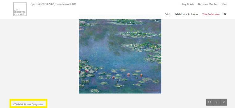 シカゴ美術館_パブリックドメイン画像の見つけ方3の画像