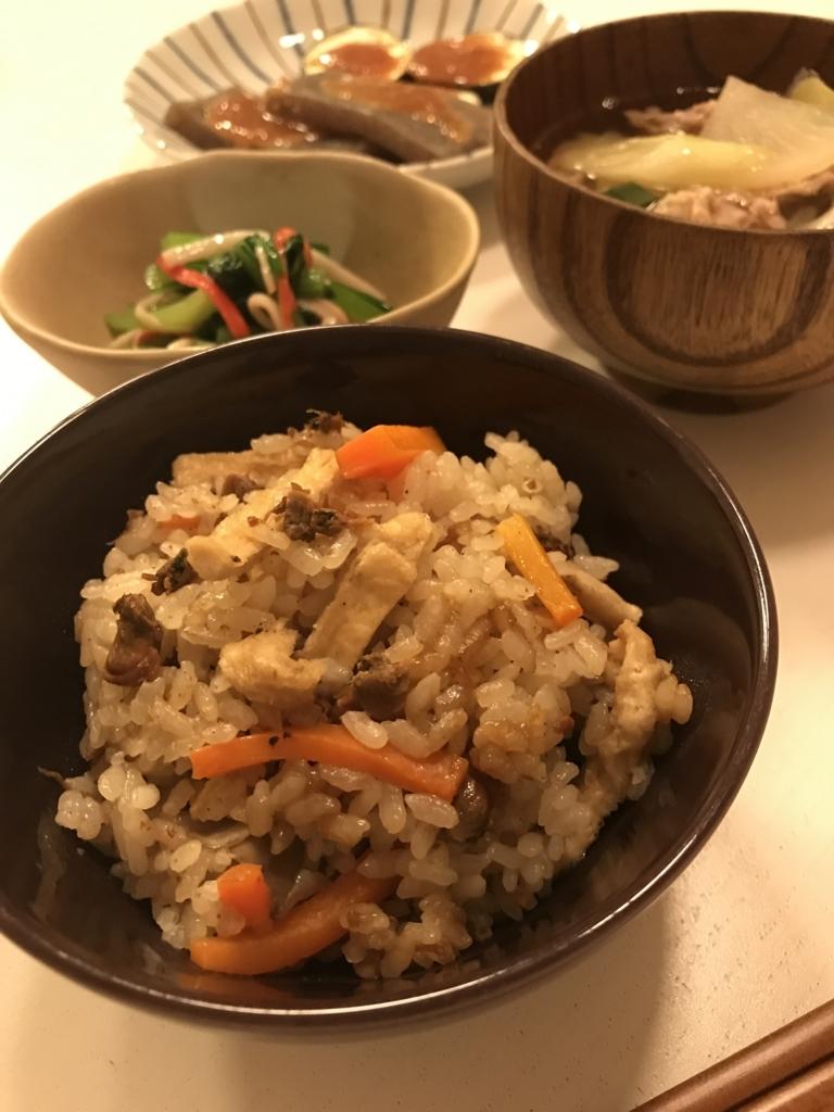 佃煮の炊き込みご飯