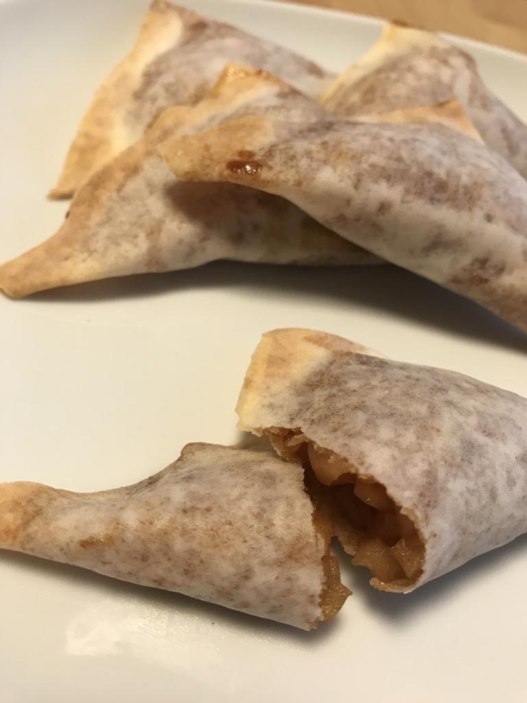 春巻きの皮で作ったアップルパイ