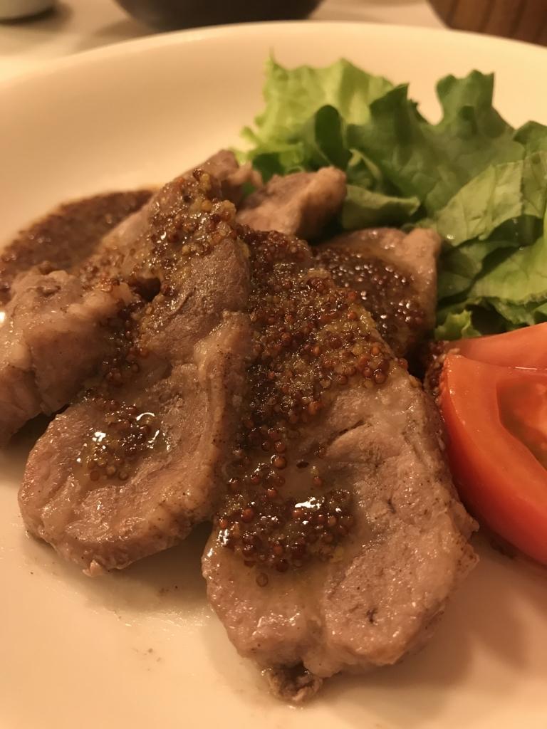豚肉のハニーマスタード焼き