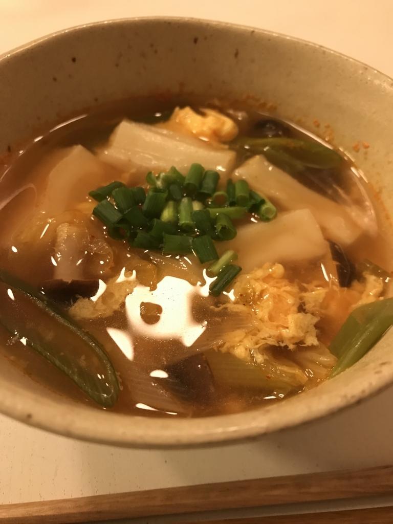 トッポギ風スープ