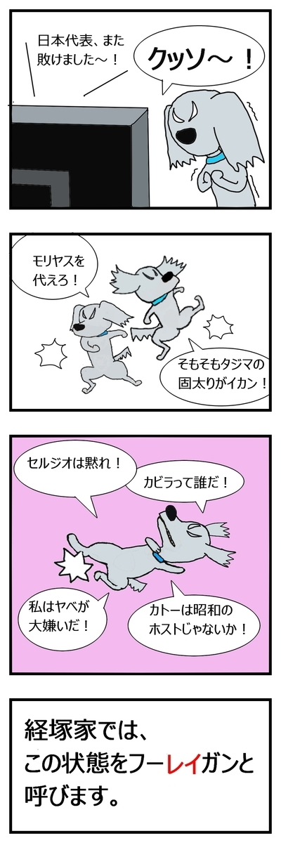 犬のフーリガン、暴れる