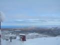 札幌国際スキー場 山頂から 石狩湾を望む