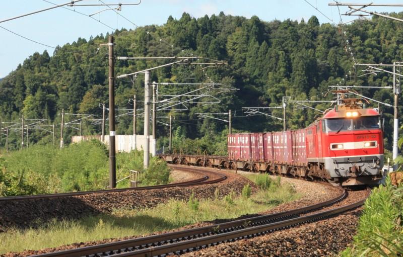 北陸本線 下り貨物列車 EF510@津幡~倶利伽羅