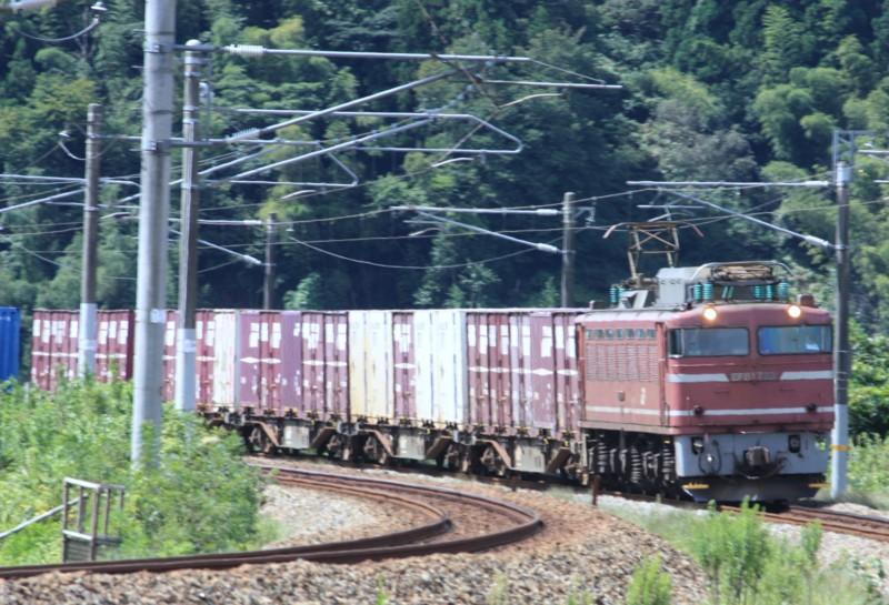 北陸本線 下り貨物列車 EF81-723@津幡~倶利伽羅