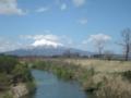 奥羽本線の車窓から 岩木山