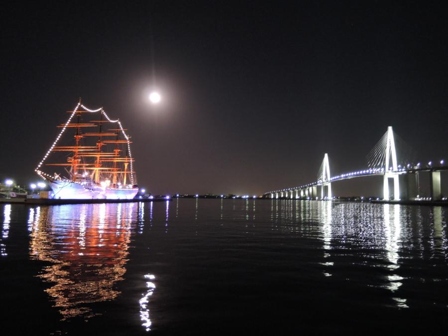 海王丸パークの夜景