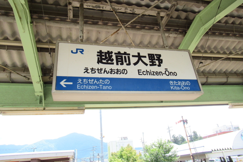 JR西日本 越美北線 越前大野駅