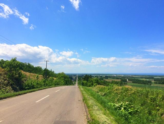 青空,道路,清々しい