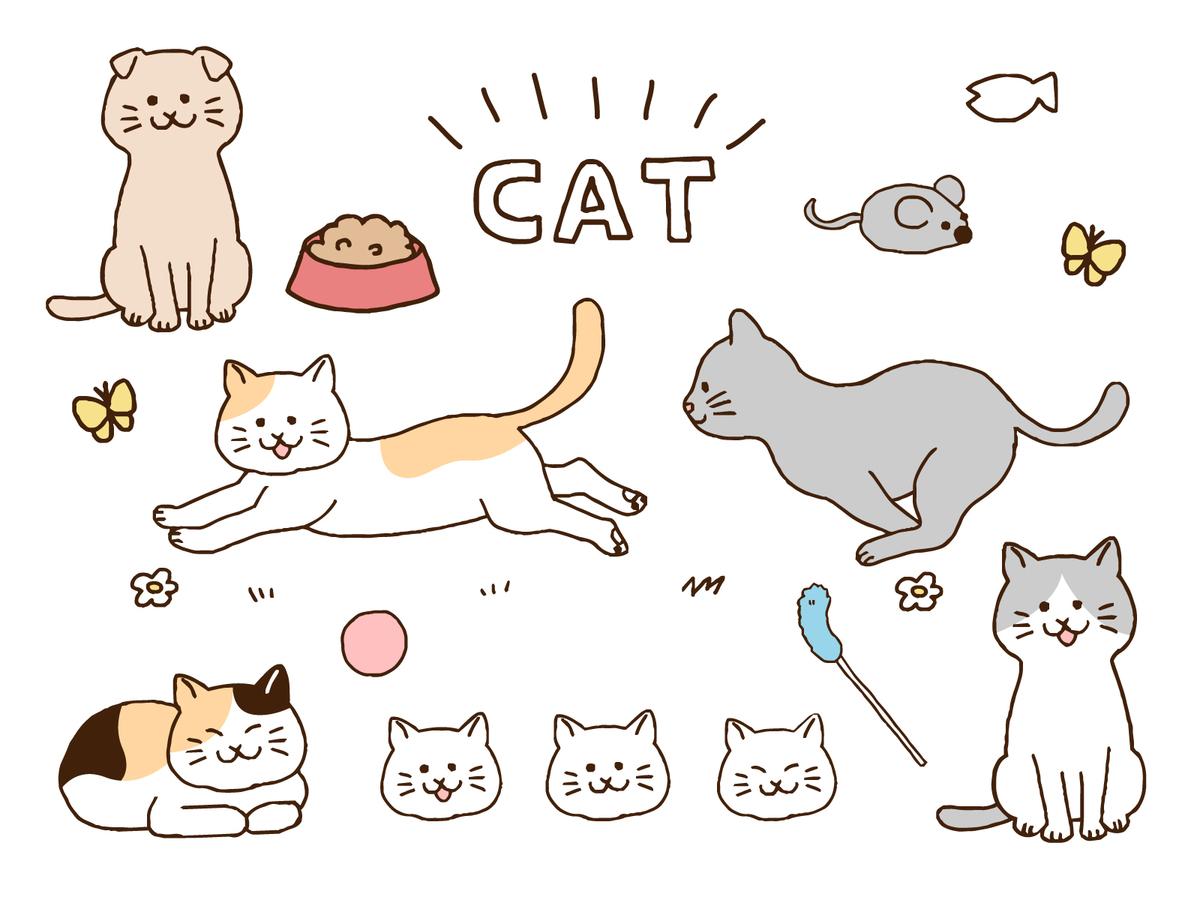 猫のイラスト,マメハルさん
