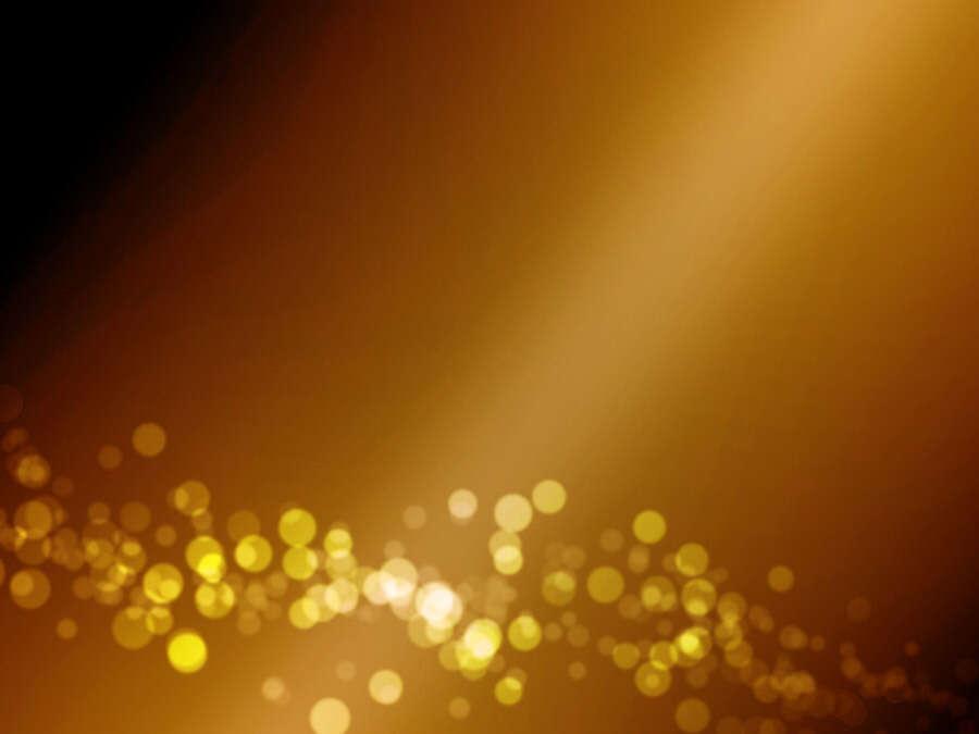 光の玉,金色