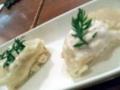 7/大根煮とリコッタチーズのはさみ上げ蟹味噌ムース