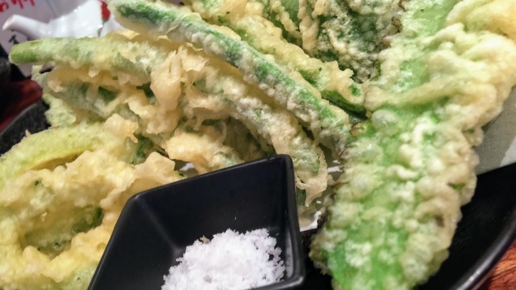 茶里亭の島野菜のてんぷら