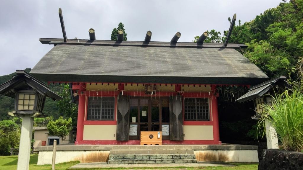 小笠原の大神山神社の本殿