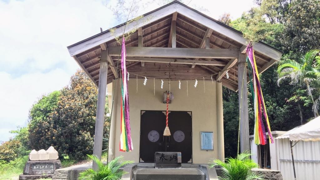 小笠原神社の拝殿