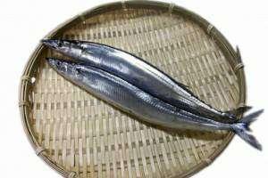ザルに乗っている二尾の魚