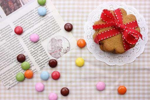 クッキーとチョコビーンズ