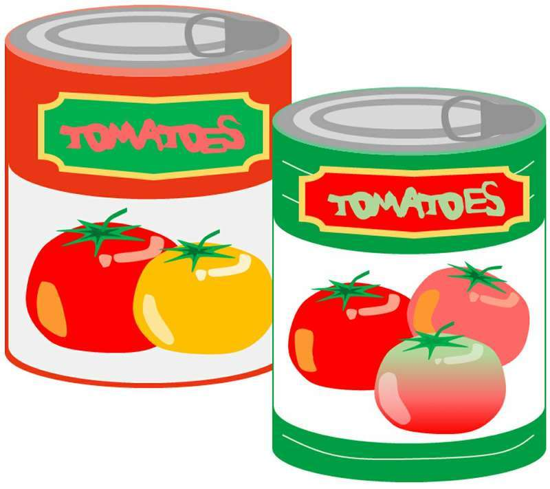 2つのトマト缶