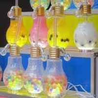 電球の形のジュース